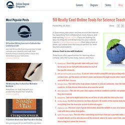 50 Really Cool Online Tools for Science Teachers