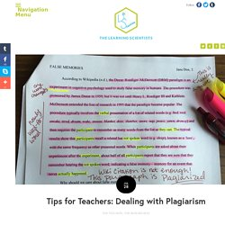 Tips for Teachers: Dealing with Plagiarism — The Learning Scientists