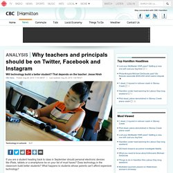 Why teachers and principals should be on Twitter, Facebook and Instagram #edltechbc