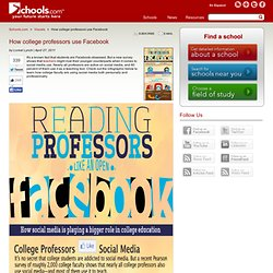 How Are Teachers & College Professors Using Facebook?