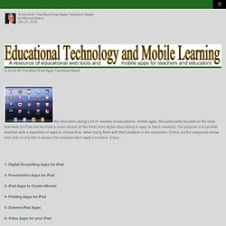 A list of All The Best iPad Apps Teachers Need – School Leadership 2.0