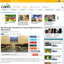 No Teachers to Teach HIgh School in Milwaukee.