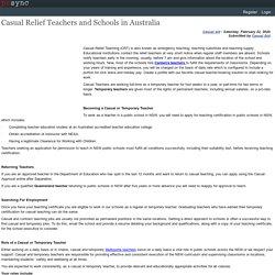 Casual Relief Teachers and Schools in Australia