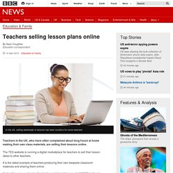 Teachers selling lesson plans online