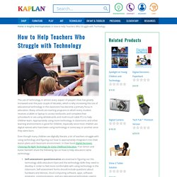 Helping Teachers Who Struggle with Technology