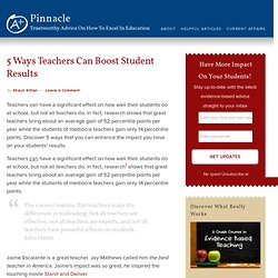 5 Ways Teachers Can Boost Student Results - Pinnacle