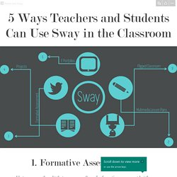 5 Ways Teachers and Students Can Use Sway in the Classroom
