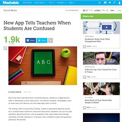 New App Tells Teachers When Students Are Confused