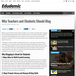 Why Teachers and Students Should Blog