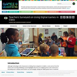 Teachers Surveyed on Using Digital Games in Class