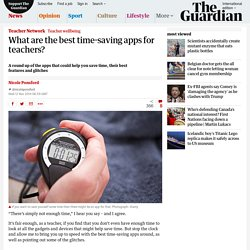 What are the best time-saving apps for teachers?