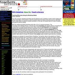 Teachers Network:Teaching Effectively Using the Workshop Model: Arlyne LeSchack