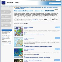Teachers' Corner – Best teaching material about the EU