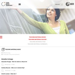 Step into German - For Teachers - Teaching Materials Music - Goethe-Institut