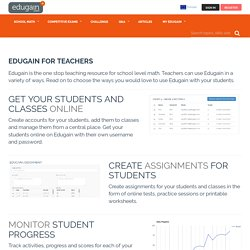 for teachers : The one stop teaching resources for K-12 math