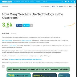 How Many Teachers Use Technology in the Classroom?
