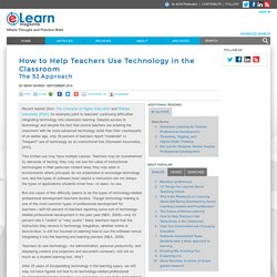 How to Help Teachers Use Technology in the Classroom