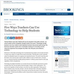 Five Ways Teachers Can Use Technology to Help Students