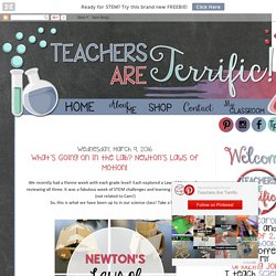 Teachers Are Terrific!: What's Going on in the Lab? Newton's Laws of Motion!