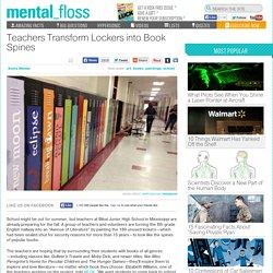 Teachers Transform Lockers into Book Spines