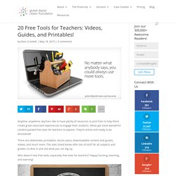 20 Free Tools for Teachers: Videos, Guides, and Printables!
