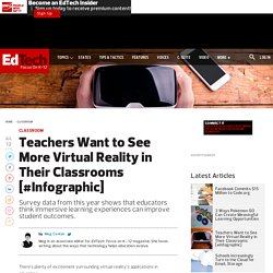Teachers Want to See More Virtual Reality in Their Classrooms