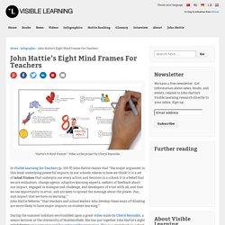 John Hattie's Eight Mind Frames For Teachers