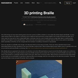 3D Prints for Teachers of the Visually Impaired
