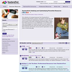 s Bullying and Cyberbullying Prevention Resources