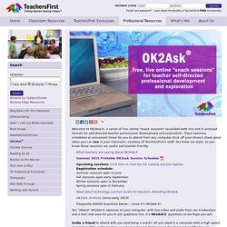 OK2Ask®: Free Online Professional Development for Teachers