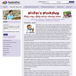 Writer's Workshop - First Grade