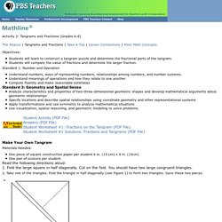 TeacherSource . Math . Asia . Tangrams and Fractions . PBS