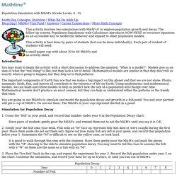 TeacherSource . Math . Population Growth