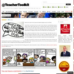 TeacherTalk « @TeacherToolkit