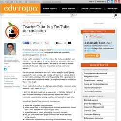 TeacherTube Is a YouTube for Educators
