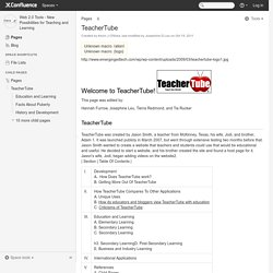 TeacherTube - Web 2.0 Tools - New Possibilities for Teaching and Learning