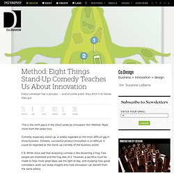 Method: Eight Things Stand-Up Comedy Teaches Us About Innovation