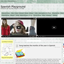 Song teaches the months of the year in Spanish » Spanish Playground