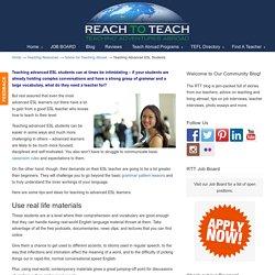 Teaching Advanced ESL Students - Reach to Teach