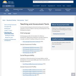Teaching and Assessment Tools - Province of British Columbia