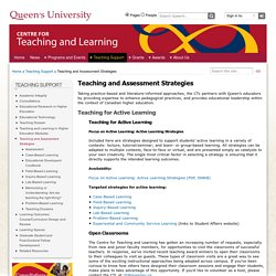 Teaching and Assessment Strategies