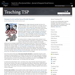 Teaching TSP » A blog about teaching sociology