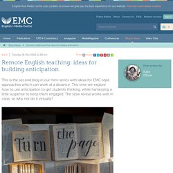 Remote English teaching: ideas for building anticipation