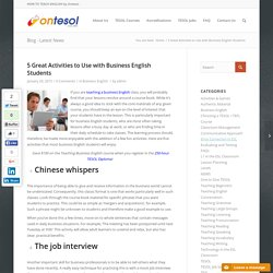 Teaching Business English Activities