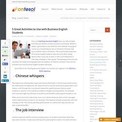 Teaching Business English Activities