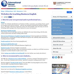Web sites for teaching business English