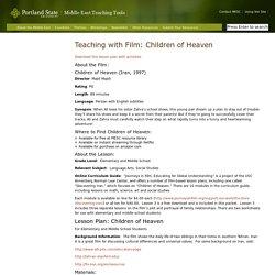 Teaching with Film: Children of Heaven