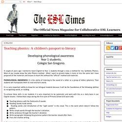 The ESL Times: Teaching phonics: A children's passport to literacy