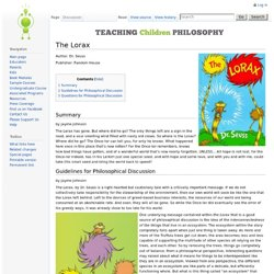 The Lorax - Teaching Children Philosophy