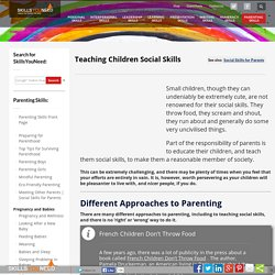 Teaching Children Social Skills
